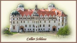 The beautiful castle of Celle with its castle theater