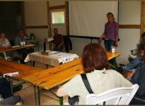 Begrüßung der Teilnehmer von der Gastgeberin Frau Angela Mikus
