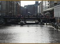 Schleuse in der Hamburger Innenstadt